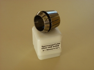 ER25 spantang 18 mm