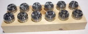 ER20 spantangen set 12 stuks op houten blok