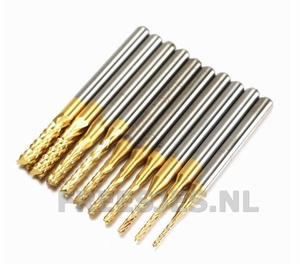 HM freesjes set met diamantvertanding en Tin coating