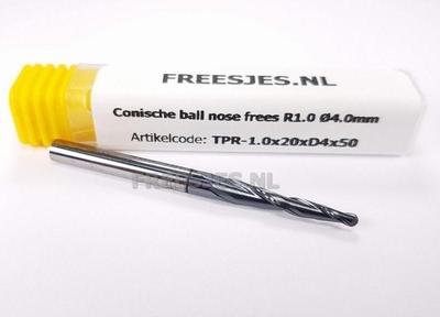 Conische ball nose frees R1.0  Ø4.0mm