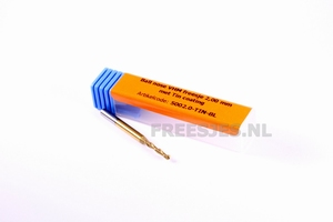Ball nose VHM freesje 2,00 mm met Tin coating