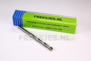 VHM freesje 3,175 mm extra snijlengte !! 25mm