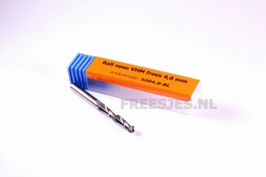 Ball nose VHM frees 4,0 x 17 mm