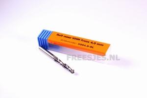 Ball nose VHM frees 4,0 x 17 mm