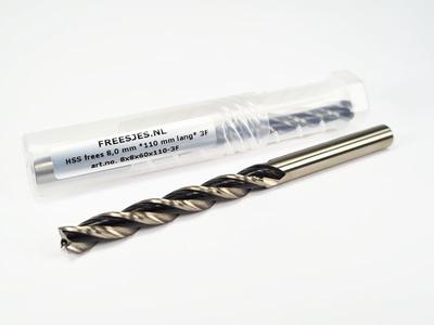 HSS frees 8,0 mm *110 mm lang* 3F