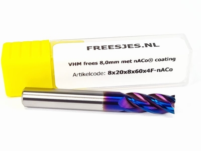 VHM nACO frees 8,0 mm - 4F
