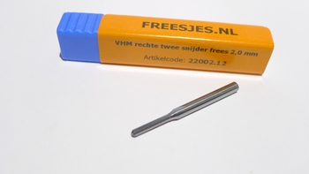VHM rechte twee snijder frees 3,175 x 28 mm