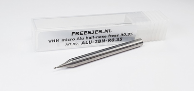 VHM micro Alu ball-nose frees R0.35