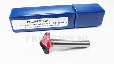 HQ V-groef frees Ø16 mm x 120° x 6mm