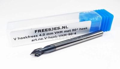 V hoekfrees 4.0 mm VHM met 90° hoek