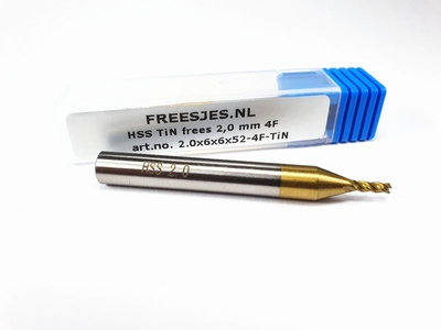 HSS TiN frees 2,0 mm  4F
