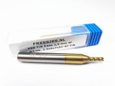HSS TiN frees 2,5 mm  4F