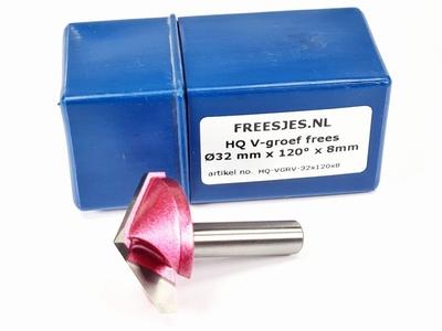 HQ V-groef frees Ø32 mm x 120° x 8mm