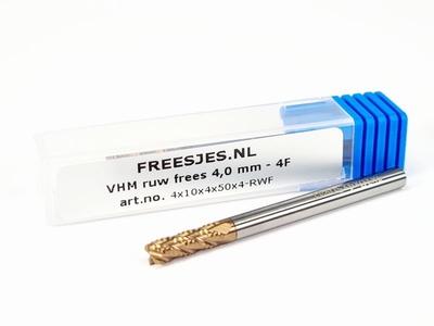 VHM ruw frees 4,0 mm - 4F