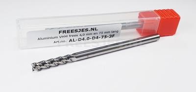 Aluminium VHM frees 5,0 mm en 75 mm lang