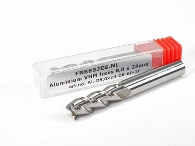 Aluminium VHM frees 8,0 x 24 mm