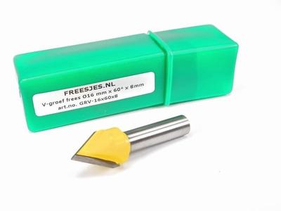 V-groef frees Ø16 mm x 60° x 8mm