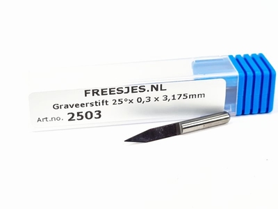 Graveerstift 25°x 0,3 x 3,175mm
