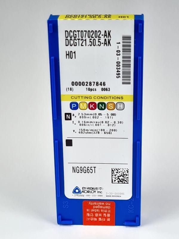 10x DCGT070202-AK H01