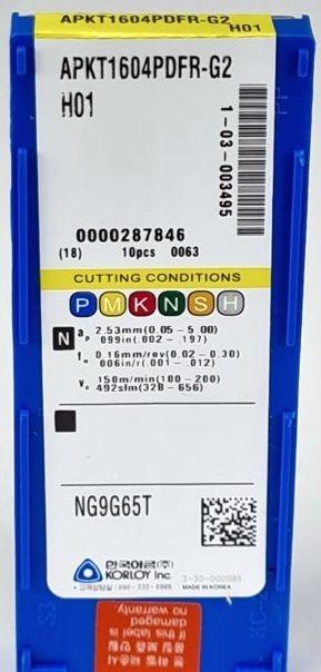 10x wisselplaat APKT1604PDFR-G2-H01