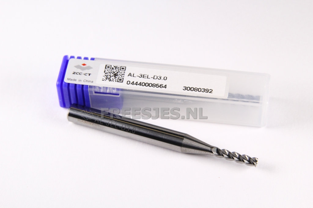Aluminium VHM frees 3,0 mm extra lang