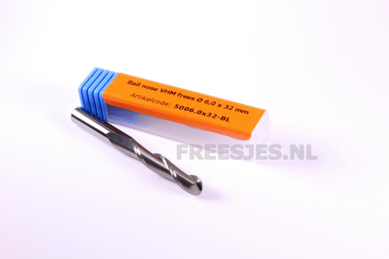 Ball nose VHM frees Ø 6,0 x 32 mm