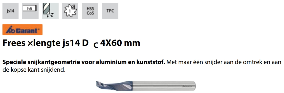 Garant HSS-Co5  6,0 mm