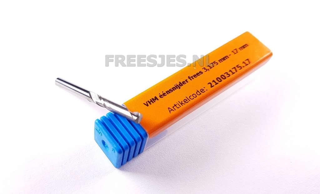 VHM éénsnijder frees 3,175 mm - 17 mm