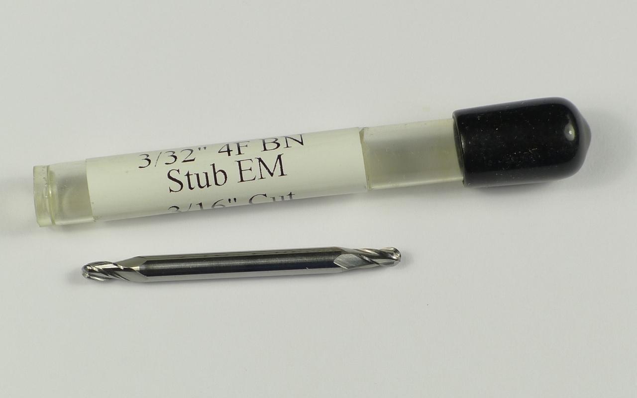 """VHM frees 3/32""""  =  2,38 mm   R1,19"""