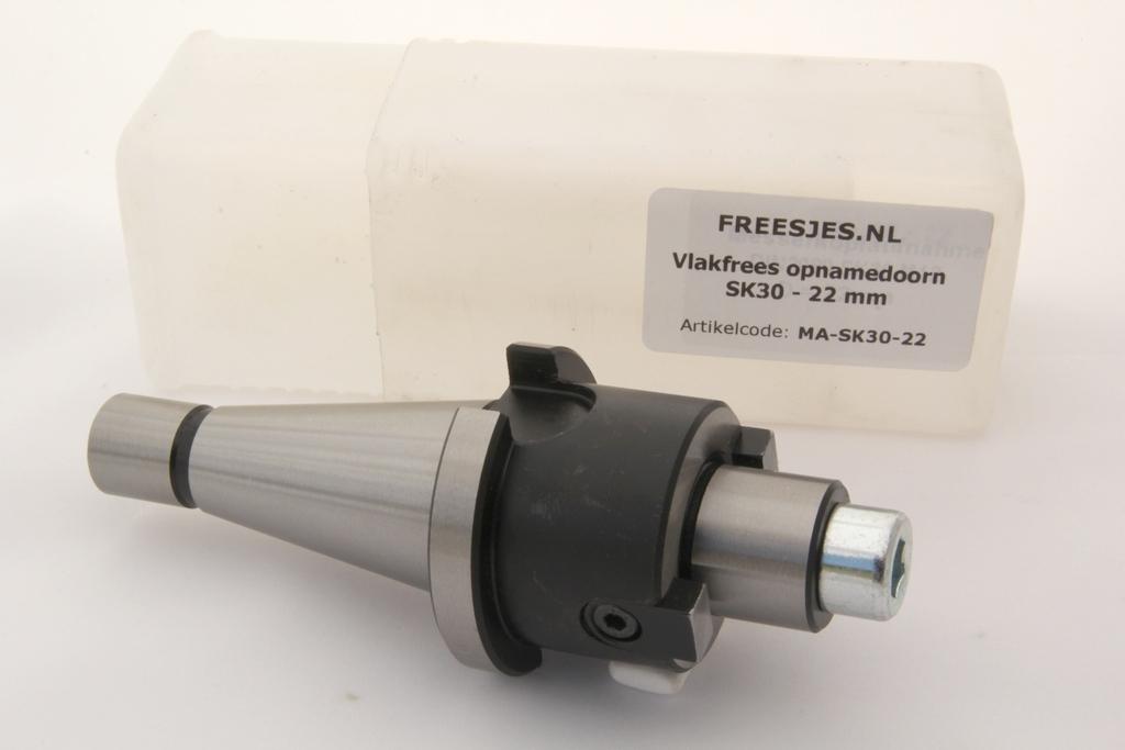 Vlakfrees opnamedoorn SK30 - 22mm