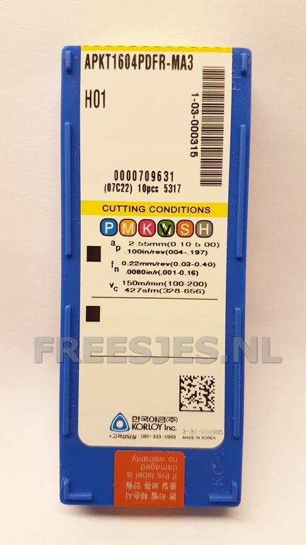 Wisselplaat APKT1604PDFR-MA3 H01