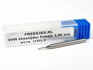 VHM éénsnijder freesje 1,00 mm