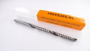 VHM éénsnijder frees 4,0 mm - 52 mm
