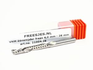 VHM éénsnijder frees 4,0 mm - 28 mm