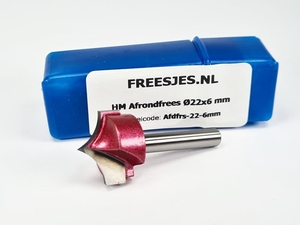 HM Afrondfrees Ø22x6 mm