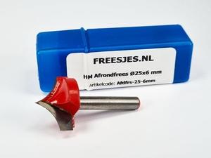 HM Afrondfrees Ø25x6 mm