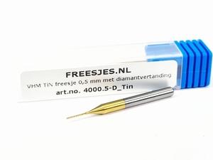 VHM freesje 1,00 mm met diamantvertanding en Tin coating