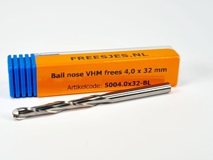 Ball nose VHM frees 4,0 x 32 mm