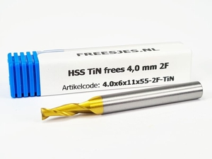 HSS TiN frees 4,0 mm  2F