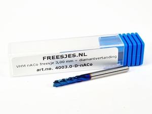 VHM NaCo freesje 3,00 mm met diamantvertanding