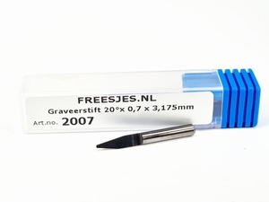Graveerstift 20°x 0,7 x 3,175mm