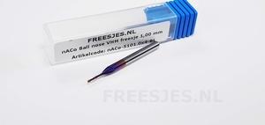 nACo Ball nose VHM freesje 1,00 mm