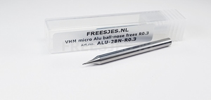 VHM micro Alu ball-nose frees R0.3