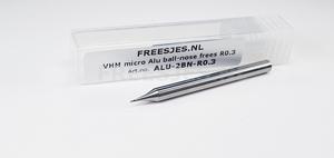 VHM micro Alu ball-nose frees R0.3