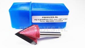 HQ V-groef frees Ø22 mm x 60° x 6mm