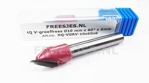 HQ V-groef frees Ø10 mm x 60° x 6mm