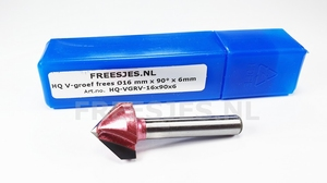 HQ V-groef frees Ø16 mm x 90° x 6mm