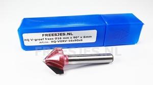 HQ V-groef frees Ø16 mm x 90° x 6mm