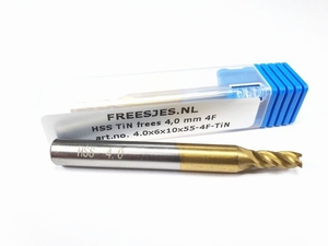 HSS TiN frees 4,0 mm  4F
