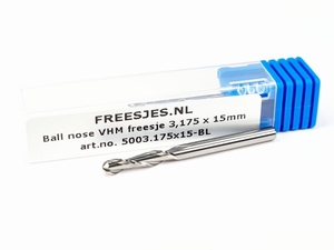 Ball nose VHM freesje 3,175 x 15mm